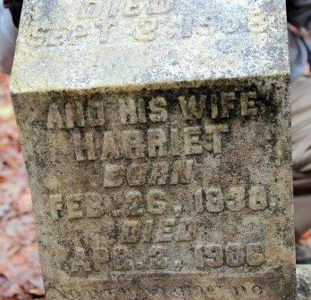 Harriet Thomas's Gravestone